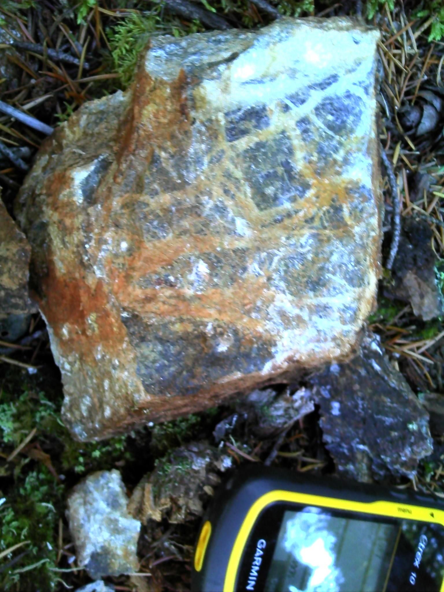 2019 Calcite veining in Serpentite