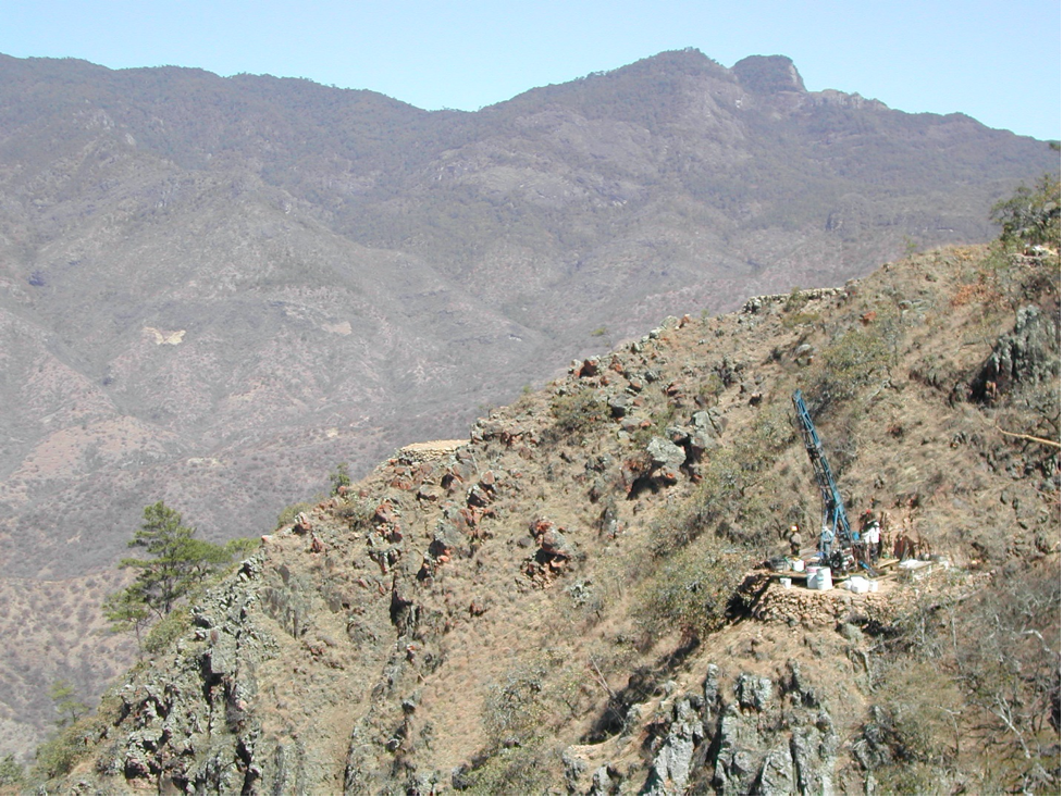 Drilling at La Gitana gold-silver property.